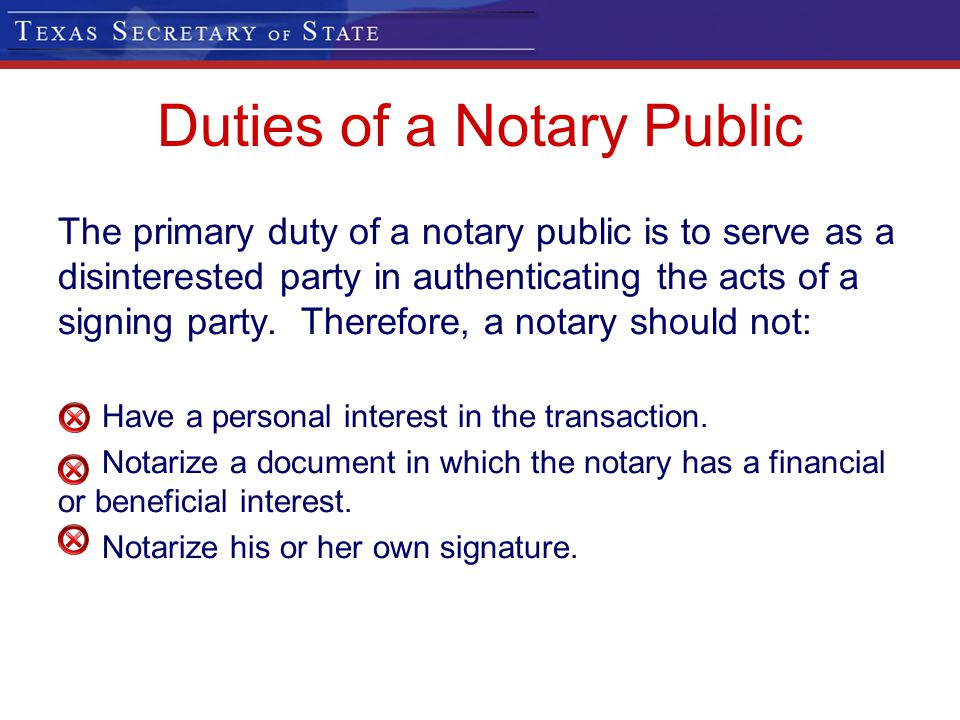 Duties of a Notary Public