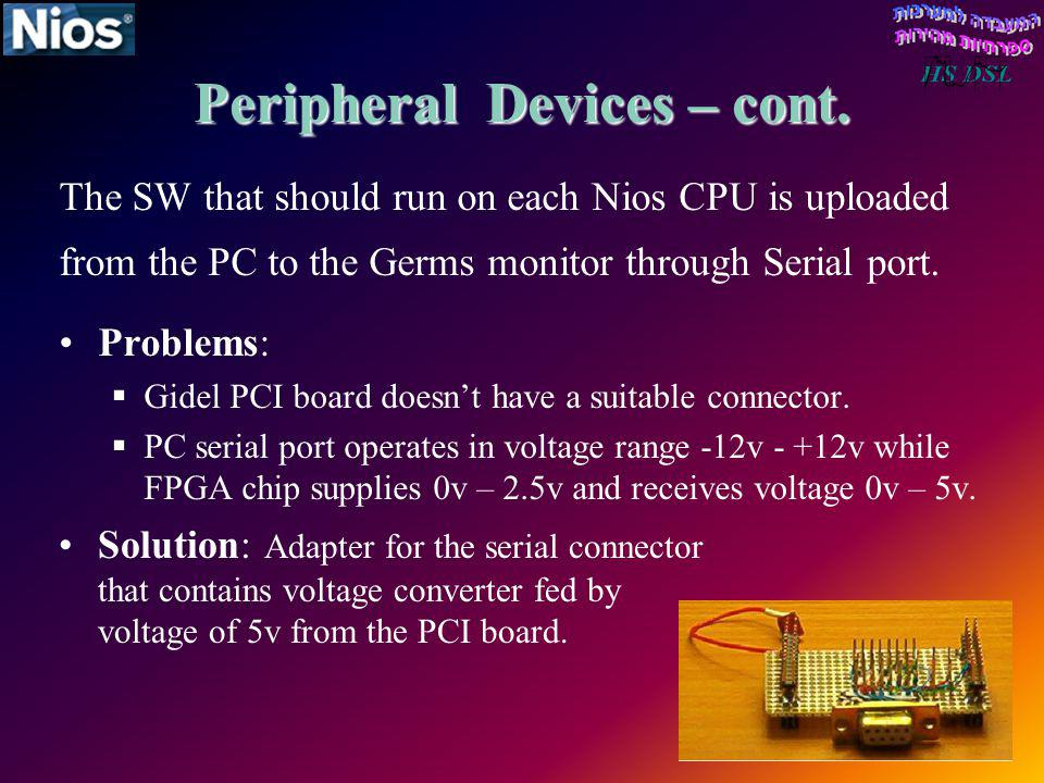 Peripheral Devices – cont.
