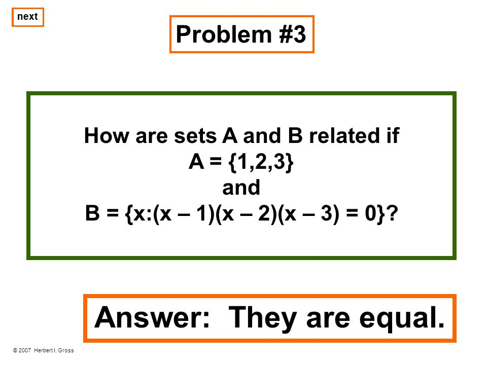 How are sets A and B related if
