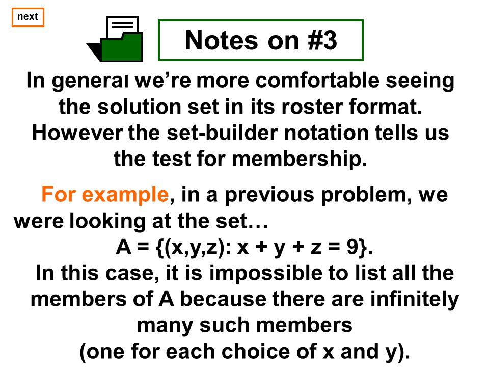 next next. Notes on #3.
