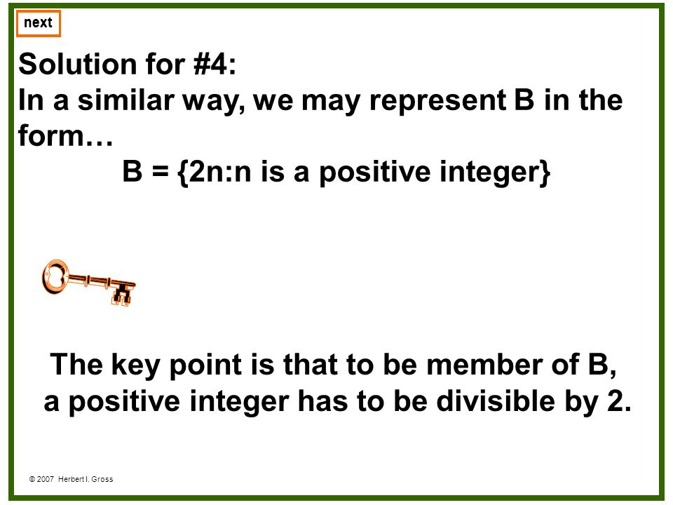 In a similar way, we may represent B in the form…