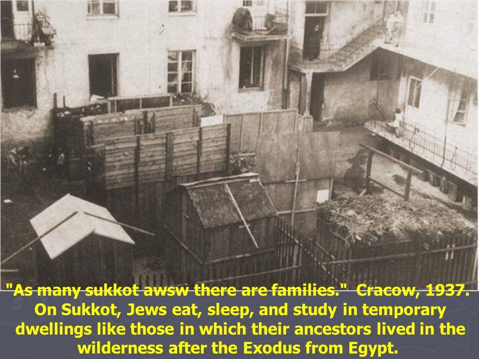 As many sukkot awsw there are families. Cracow, 1937.