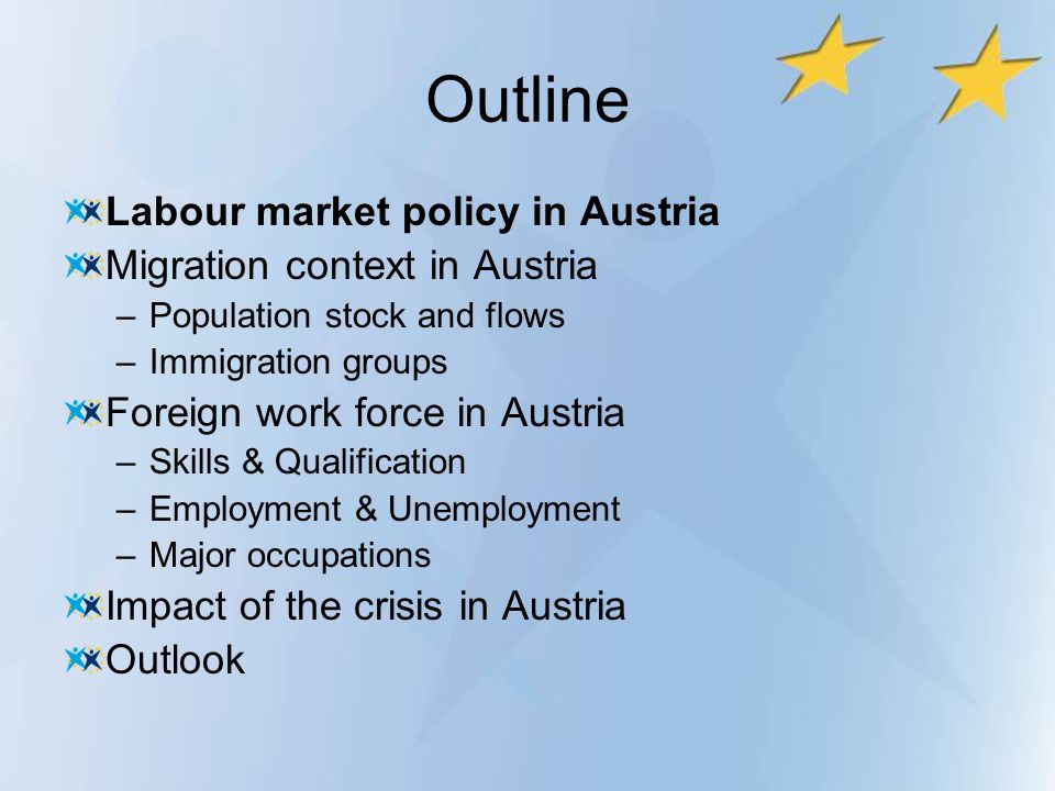 Outline Labour market policy in Austria Migration context in Austria
