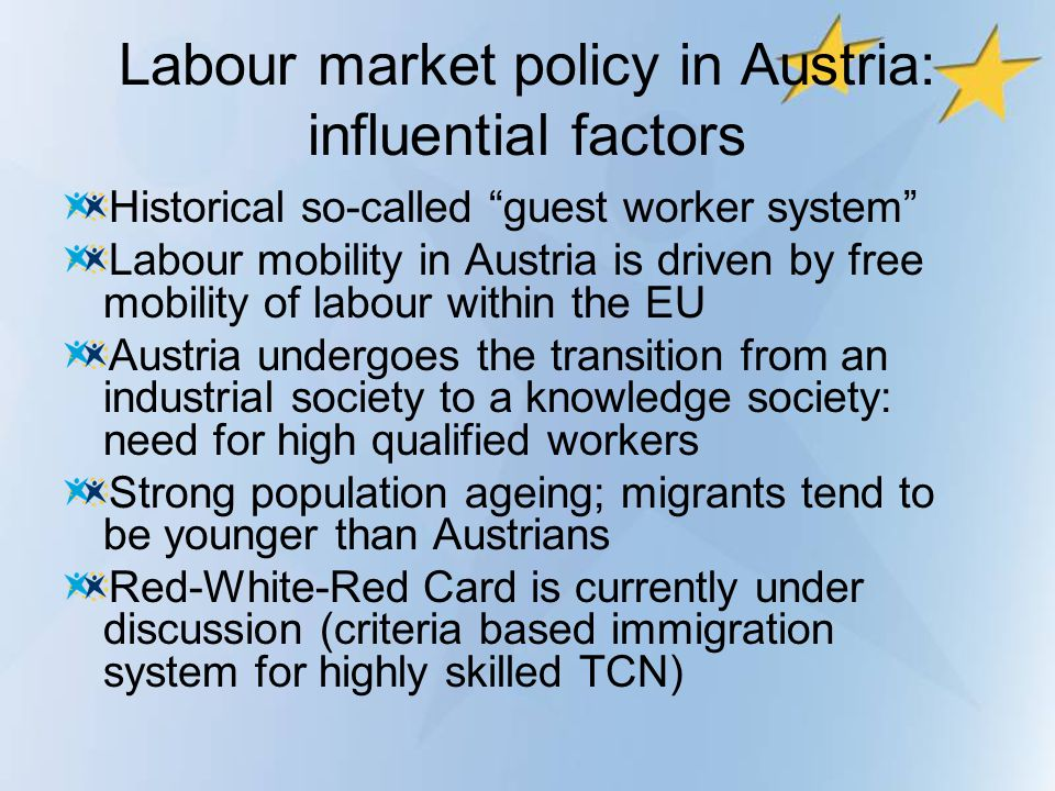 Labour market policy in Austria: influential factors