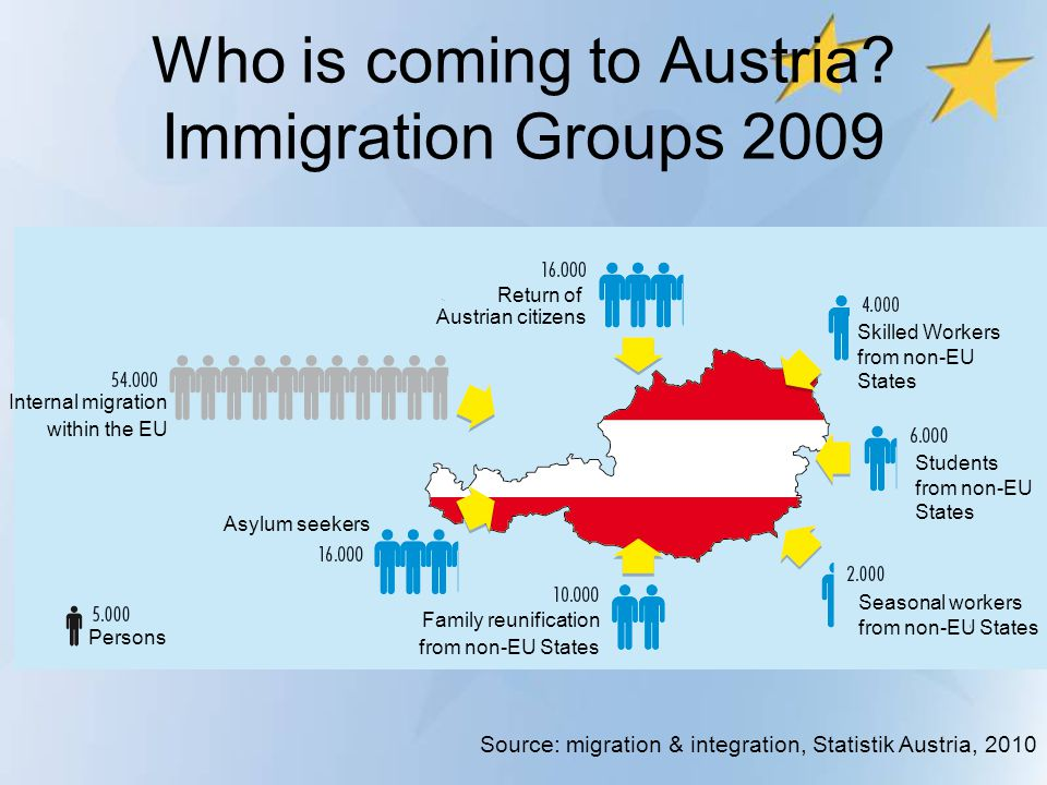 Who is coming to Austria Immigration Groups 2009