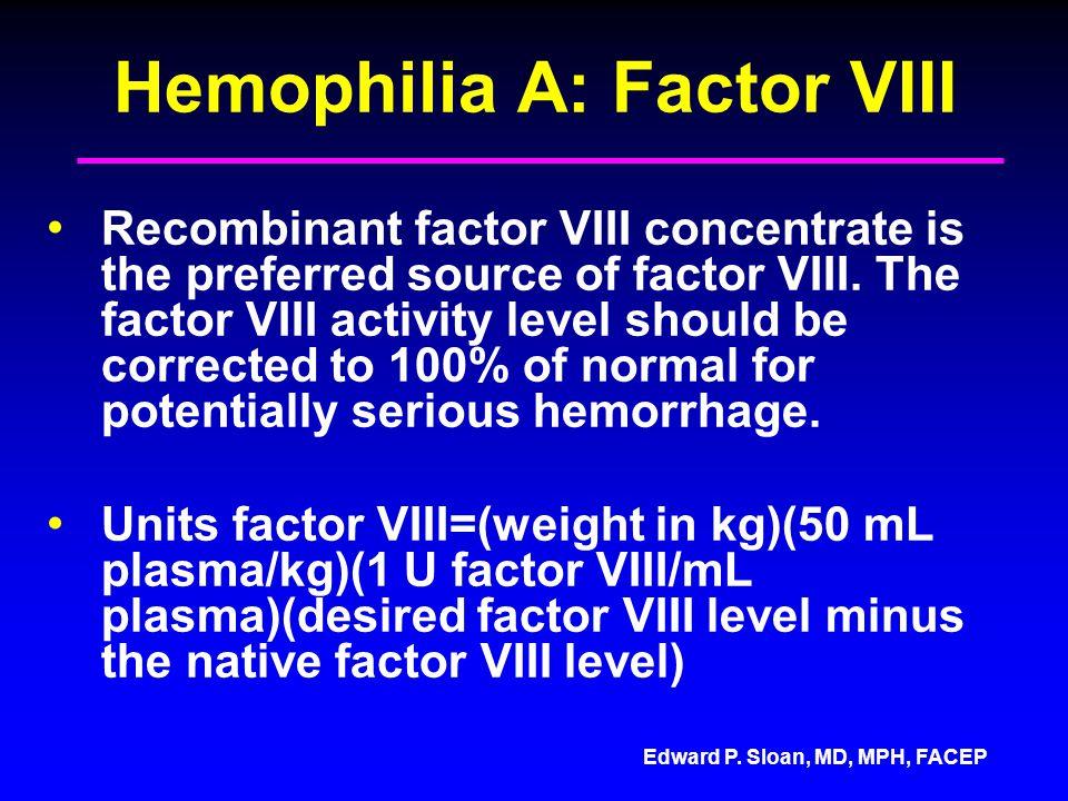 Hemophilia A: Factor VIII