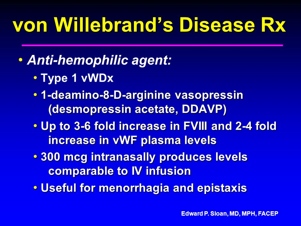von Willebrand's Disease Rx