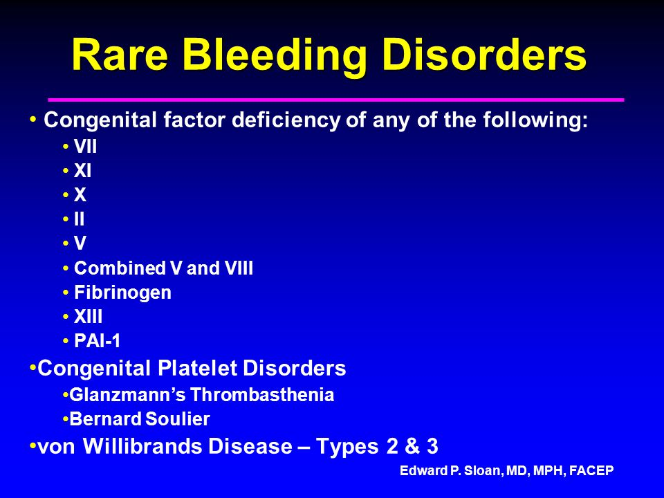 Rare Bleeding Disorders
