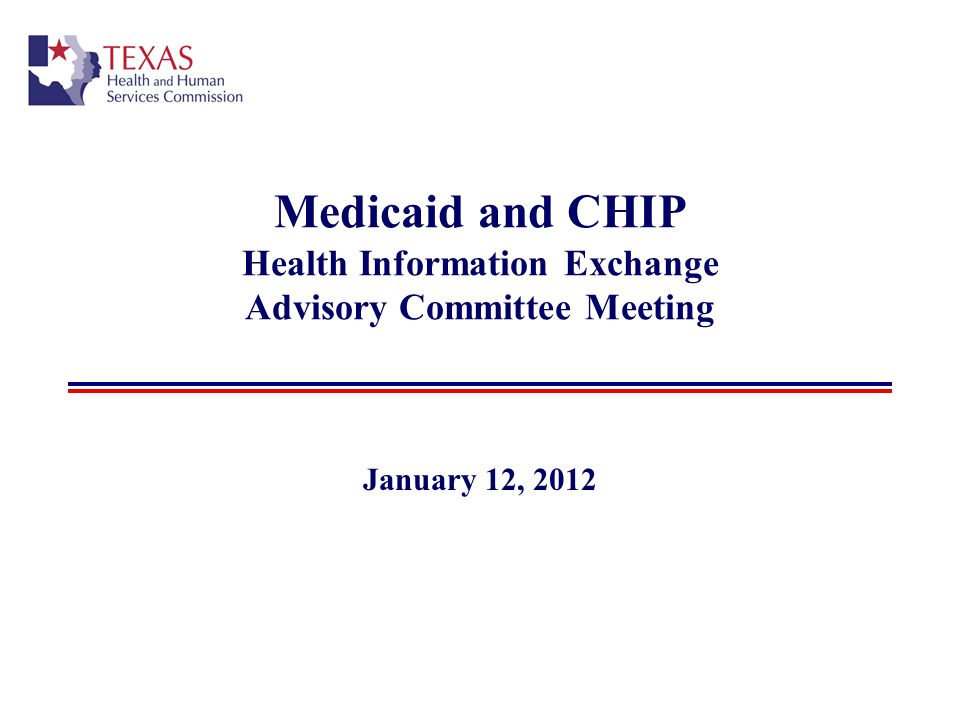 Medicaid and CHIP Health Information Exchange Advisory Committee Meeting