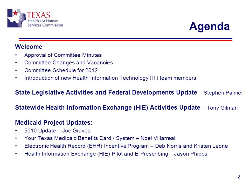 Agenda Welcome. Approval of Committee Minutes. Committee Changes and Vacancies. Committee Schedule for 2012.