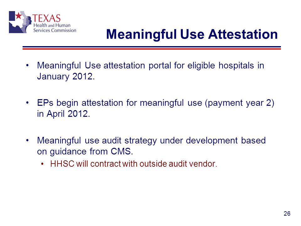 Meaningful Use Attestation