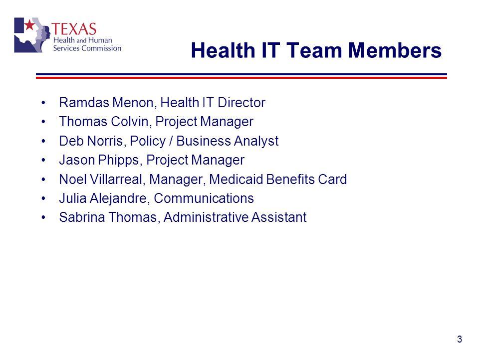 Health IT Team Members Ramdas Menon, Health IT Director