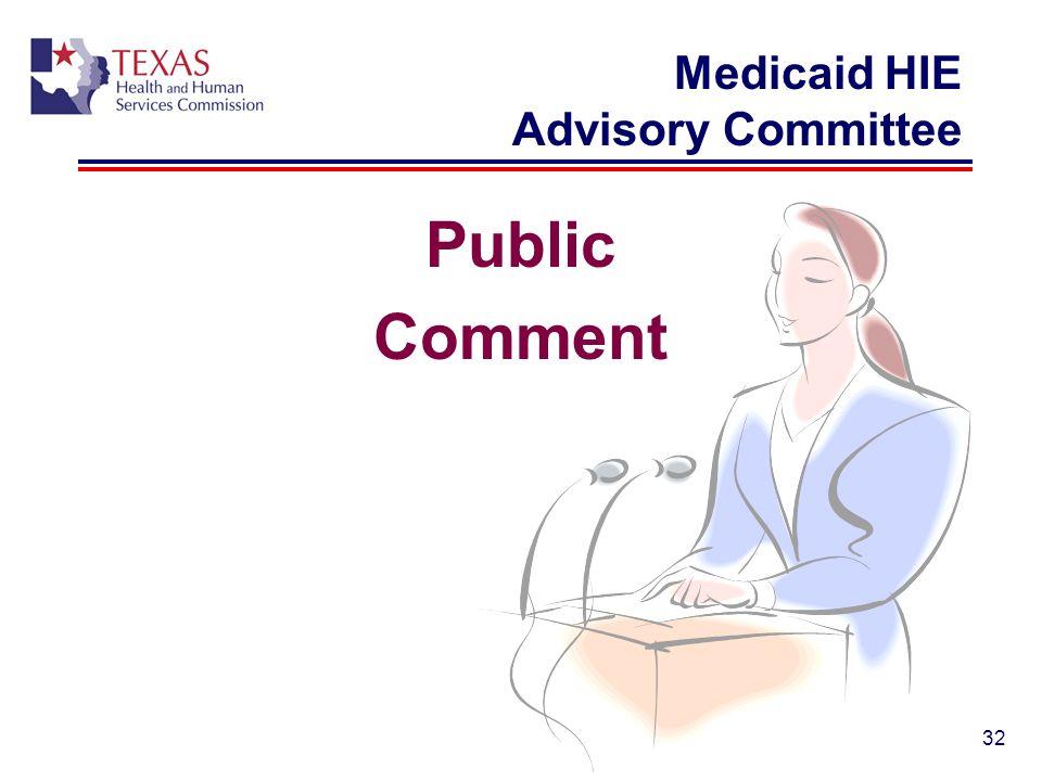 Medicaid HIE Advisory Committee