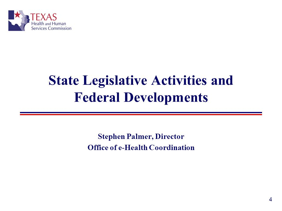 State Legislative Activities and Federal Developments