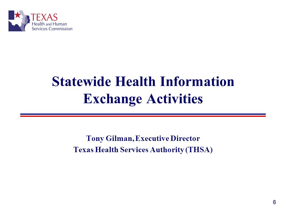 Statewide Health Information Exchange Activities