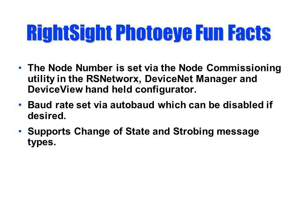 RightSight Photoeye Fun Facts