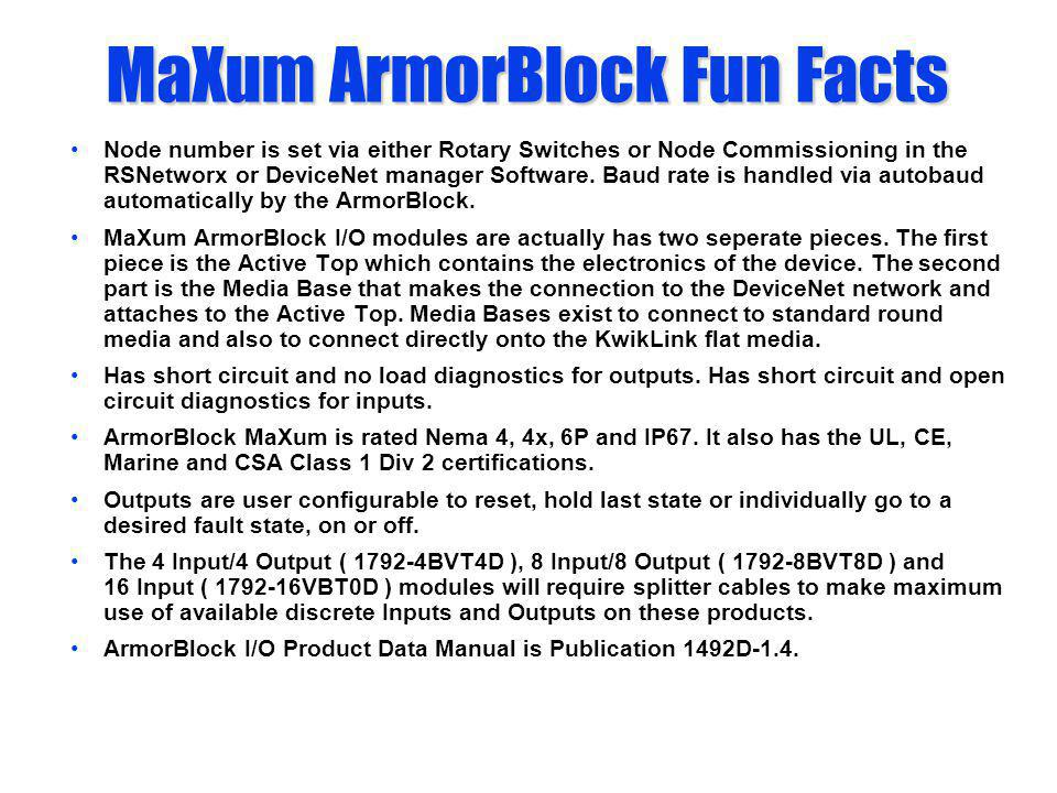 MaXum ArmorBlock Fun Facts