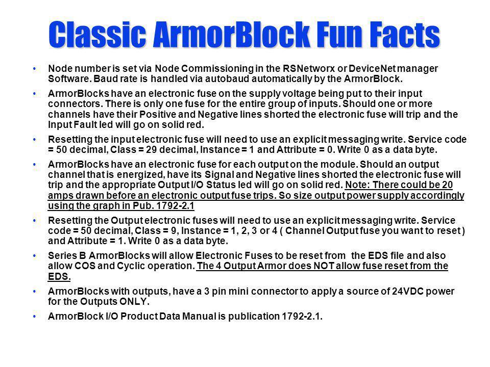 Classic ArmorBlock Fun Facts