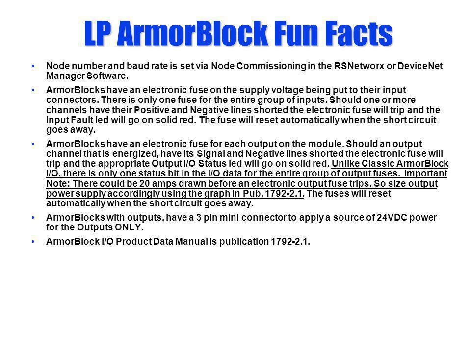 LP ArmorBlock Fun Facts