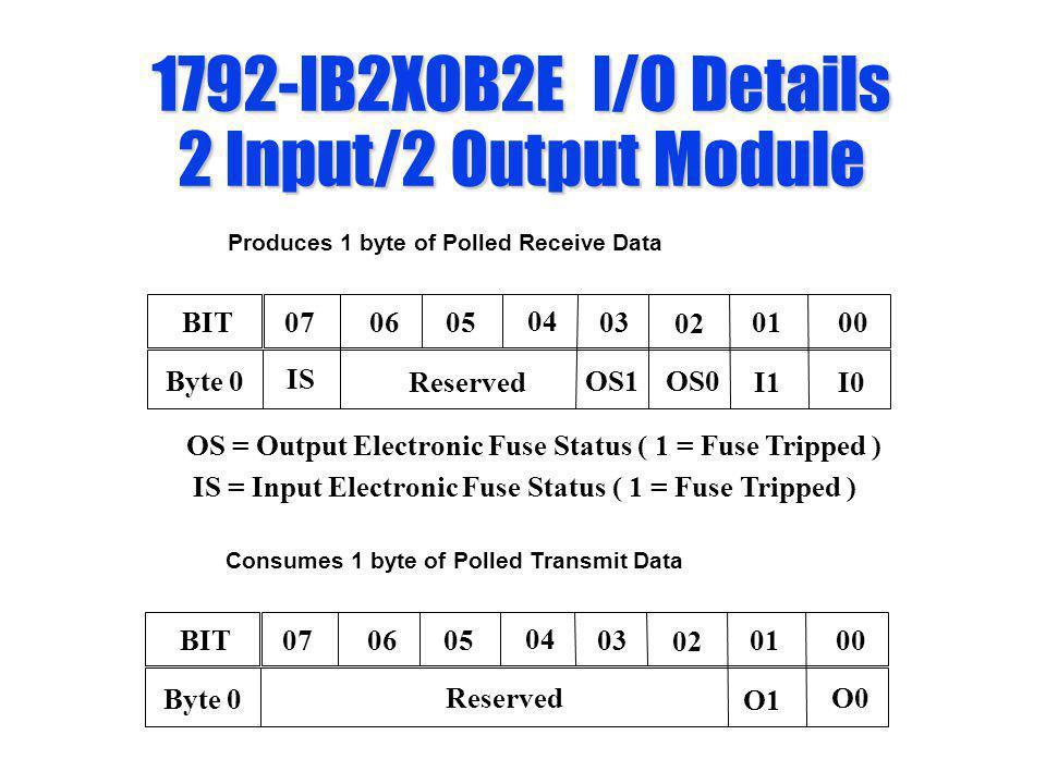 1792-IB2XOB2E I/O Details 2 Input/2 Output Module