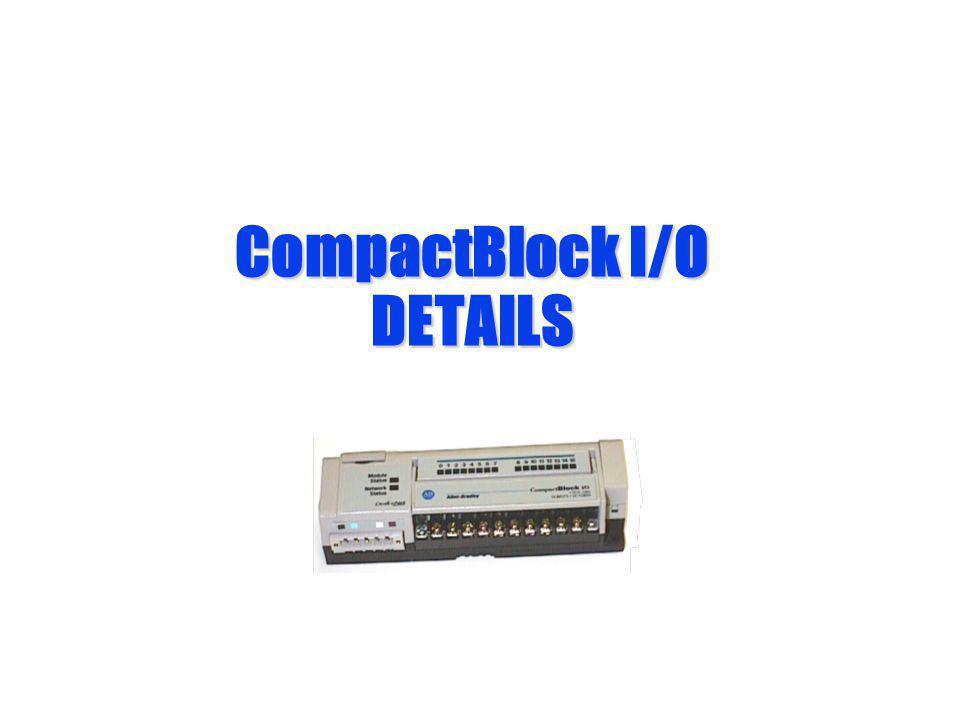 CompactBlock I/O DETAILS