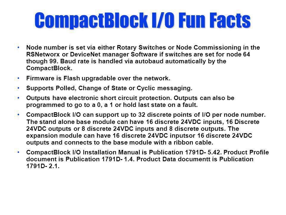 CompactBlock I/O Fun Facts