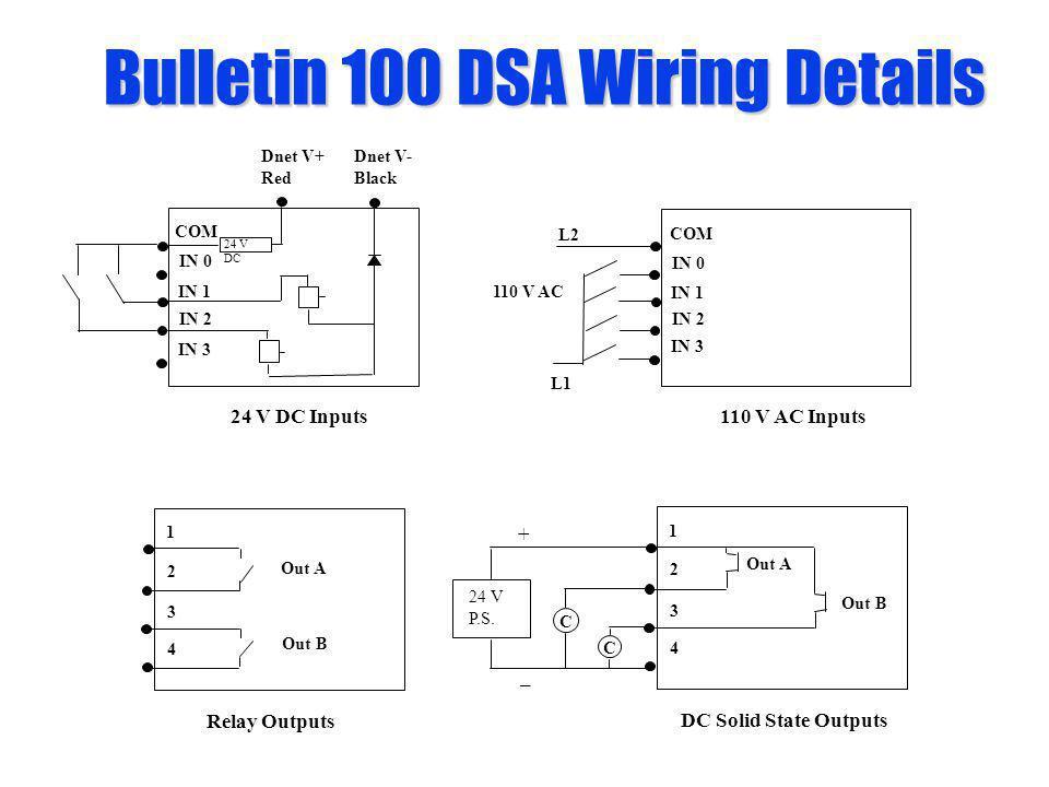 Bulletin 100 DSA Wiring Details