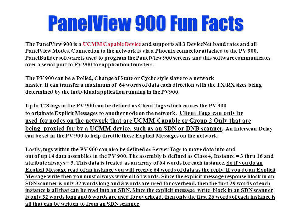PanelView 900 Fun Facts