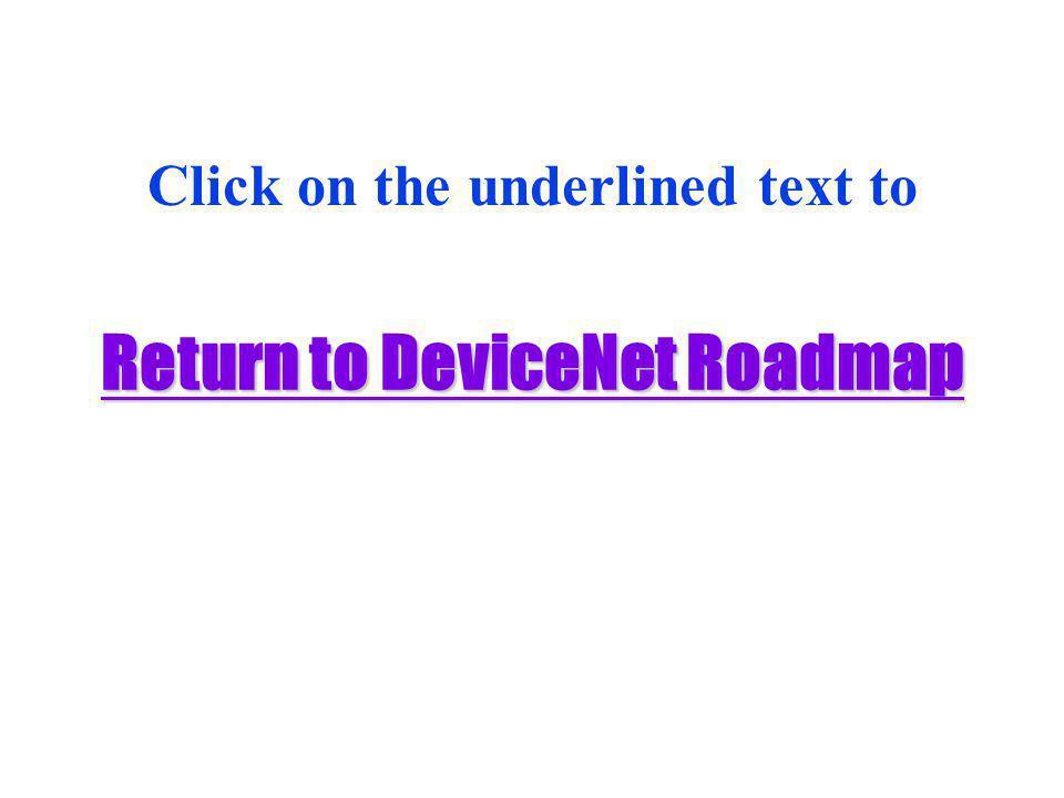 Return to DeviceNet Roadmap