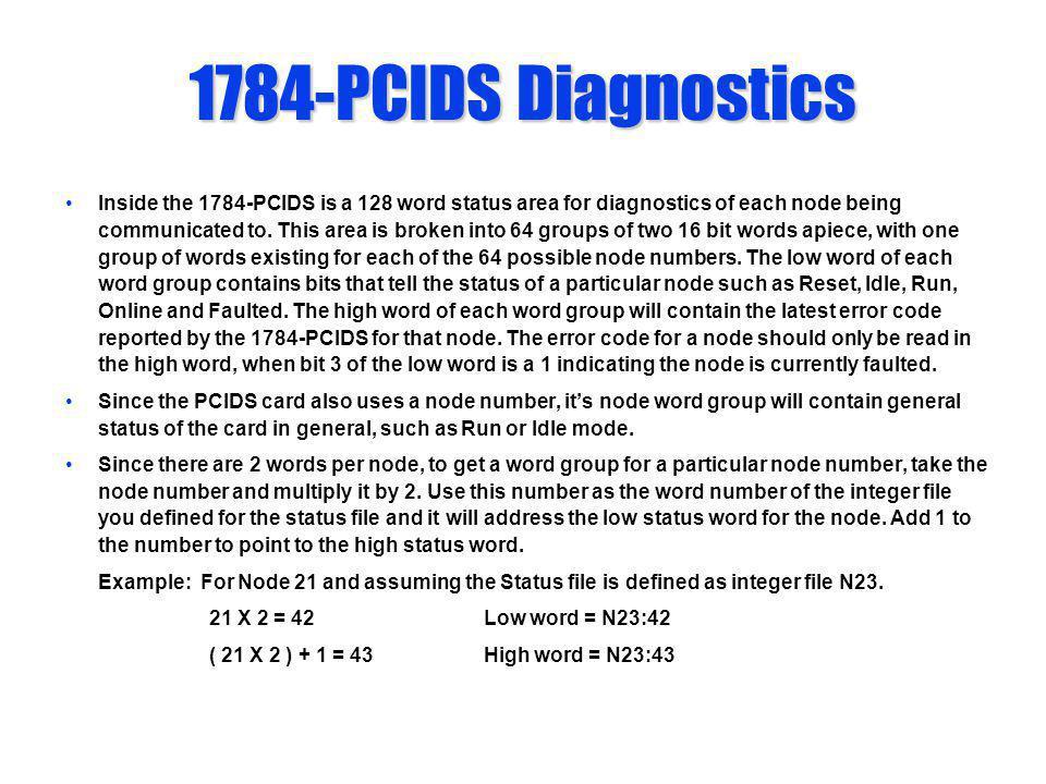 1784-PCIDS Diagnostics