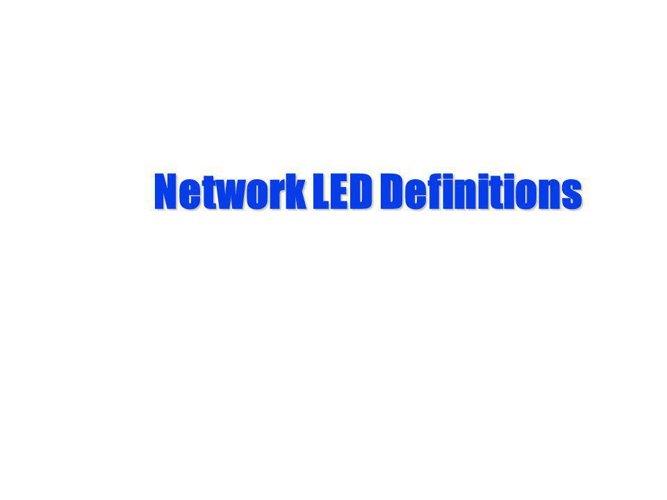 Network LED Definitions
