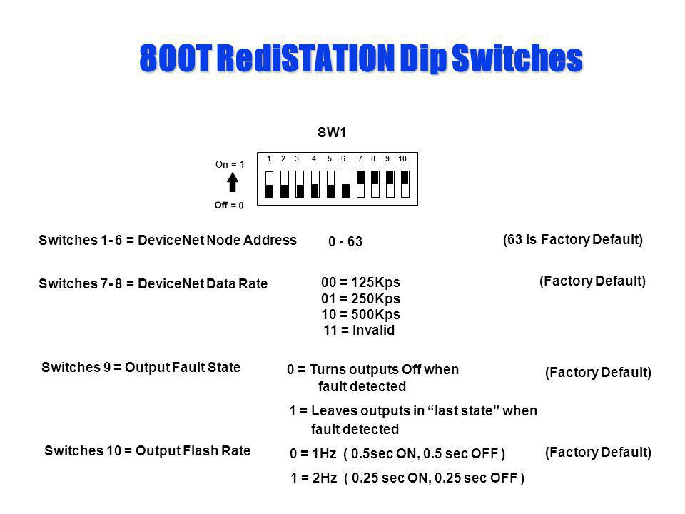 800T RediSTATION Dip Switches