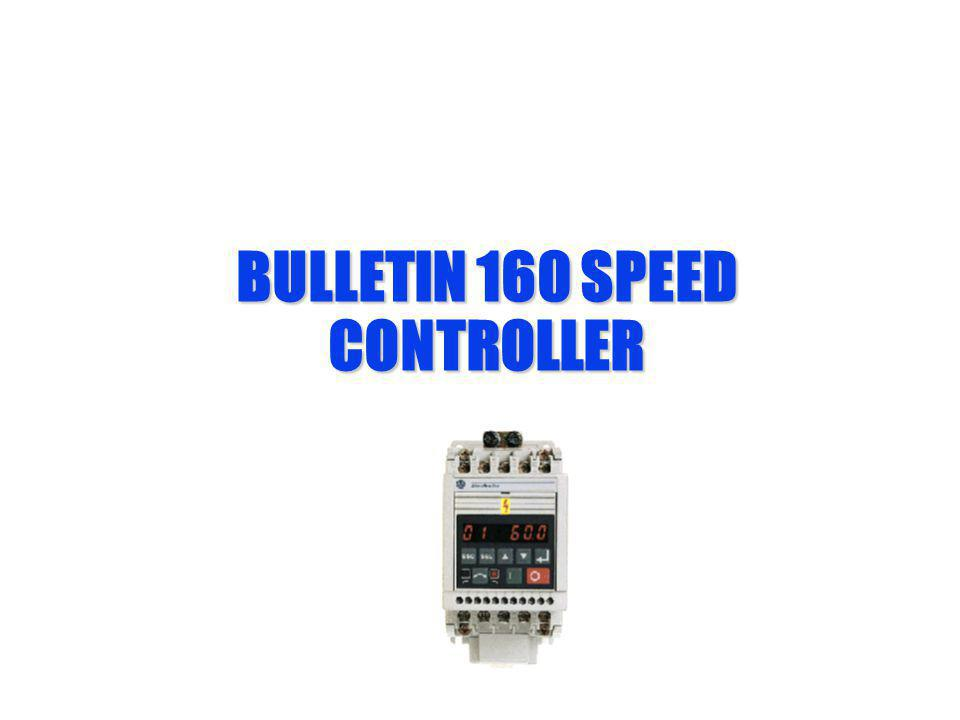 BULLETIN 160 SPEED CONTROLLER