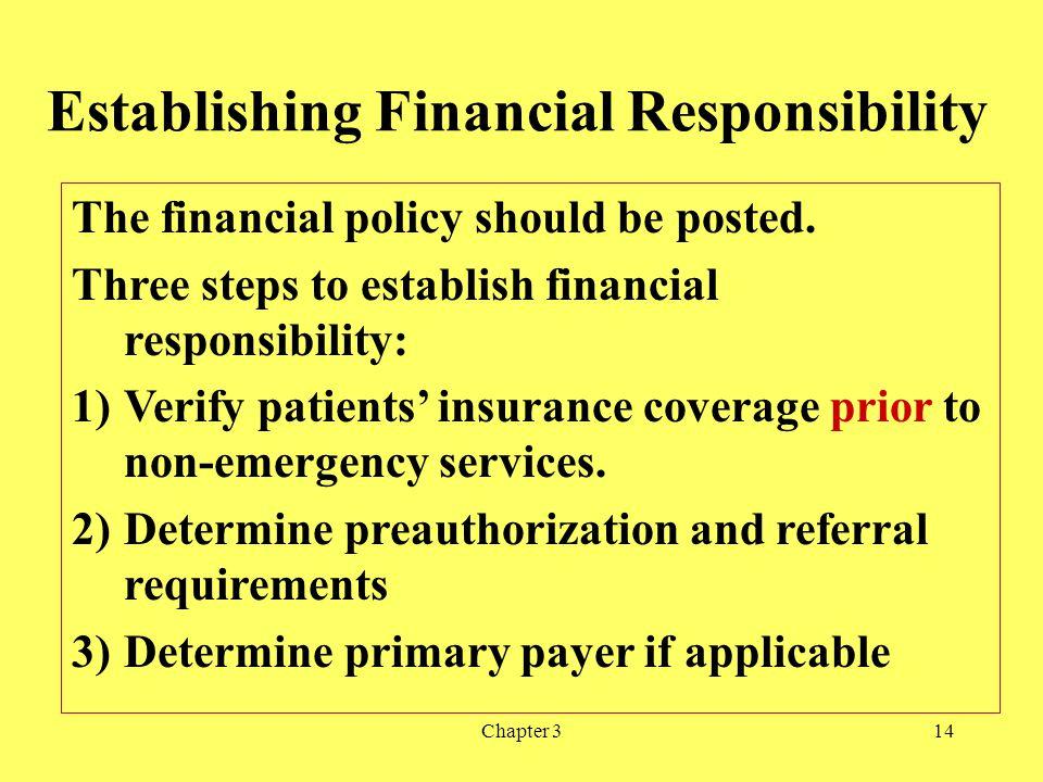 Establishing Financial Responsibility