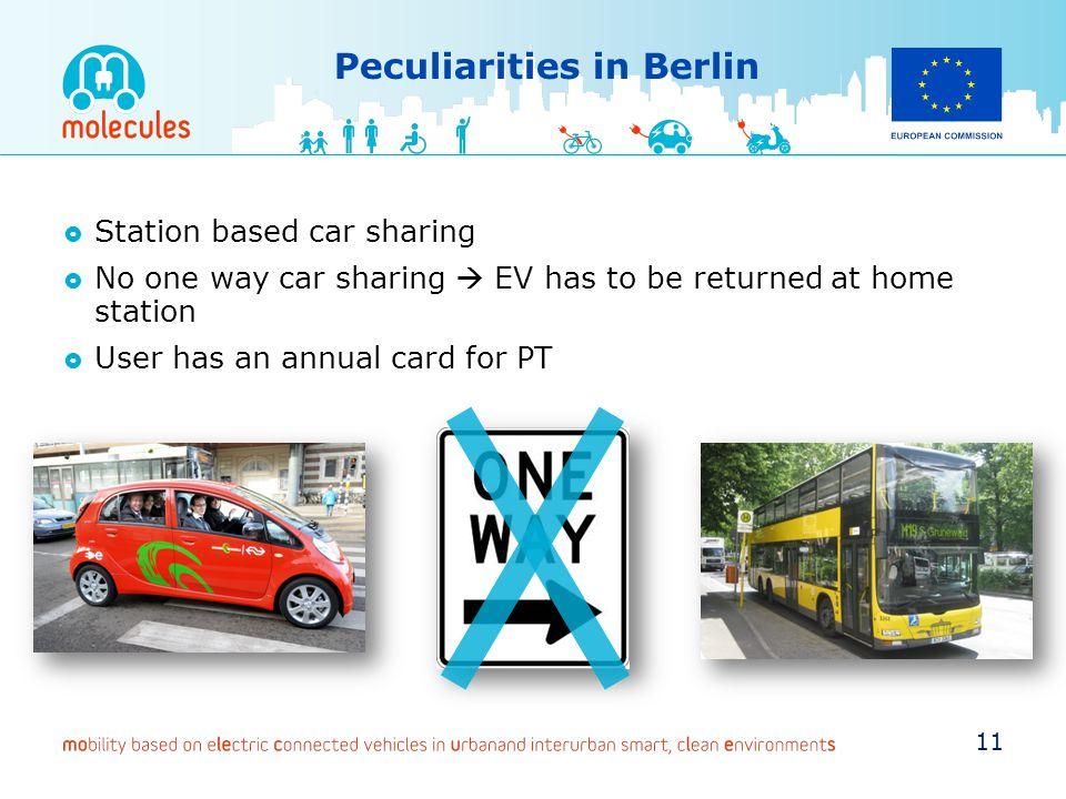 Peculiarities in Berlin