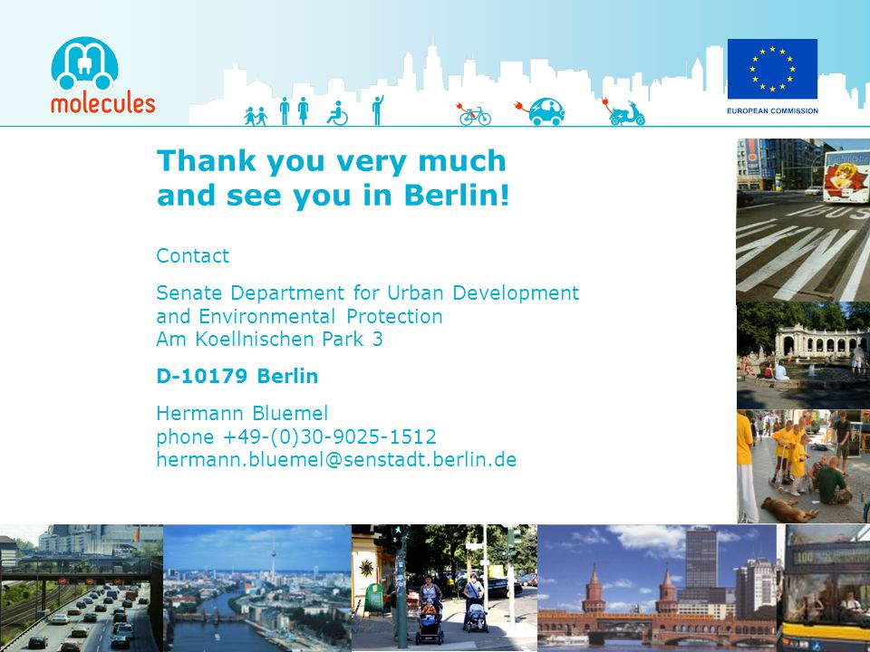 Thank you very much and see you in Berlin! Contact