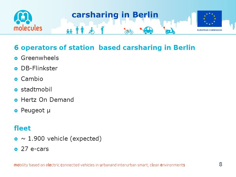carsharing in Berlin 6 operators of station based carsharing in Berlin
