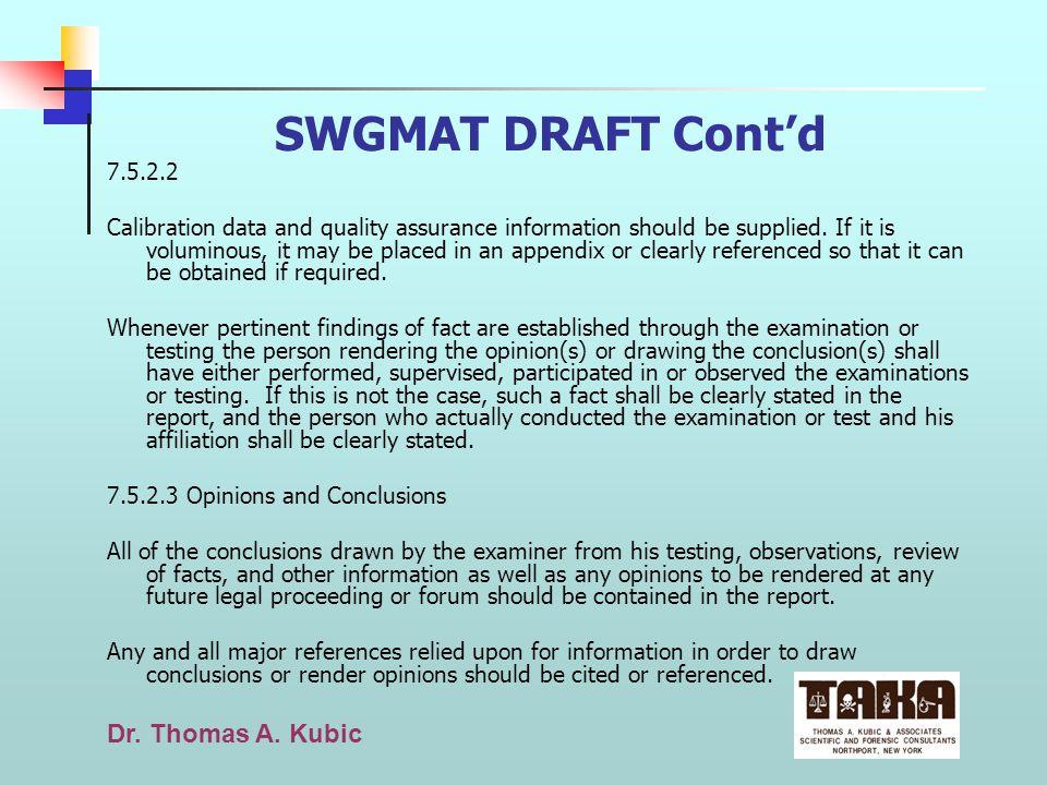 SWGMAT DRAFT Cont'd 7.5.2.2.
