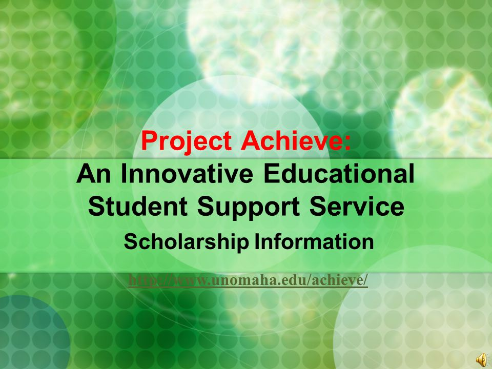 Project Achieve: An Innovative Educational Student Support Service