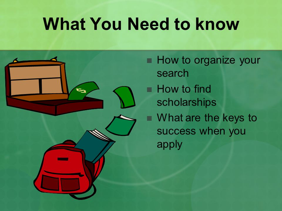 What You Need to know How to organize your search