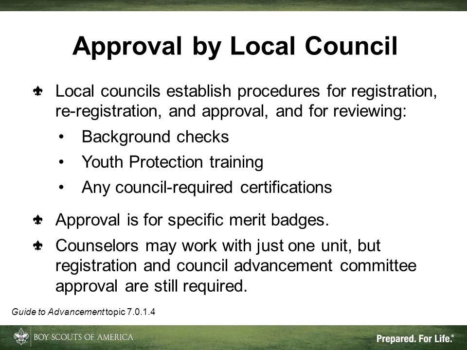 Approval by Local Council
