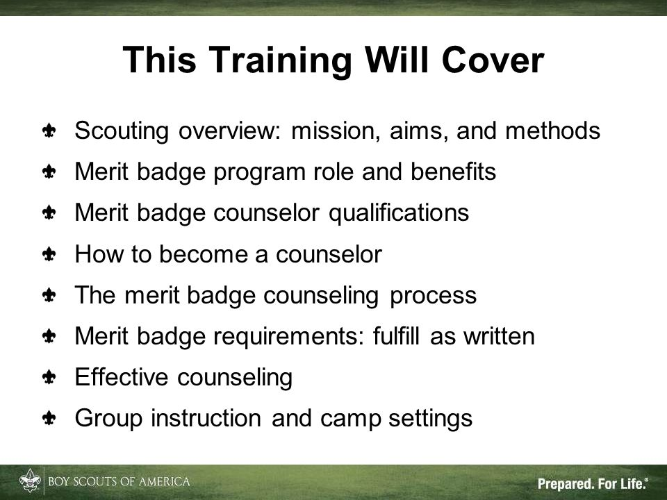 This Training Will Cover