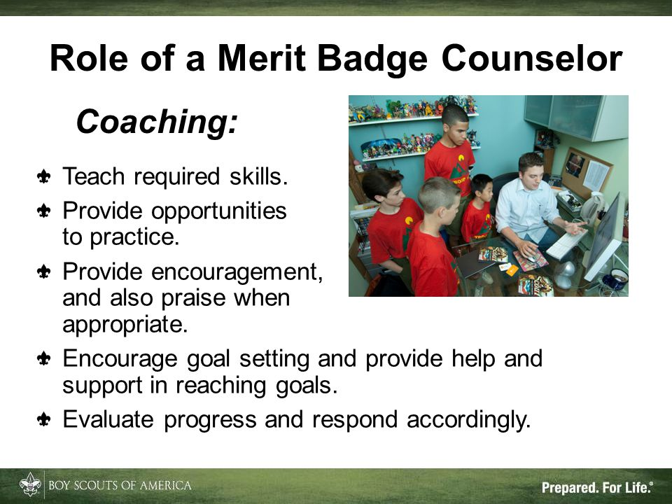 Role of a Merit Badge Counselor