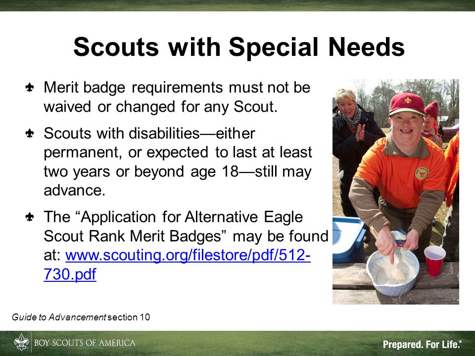 Scouts with Special Needs