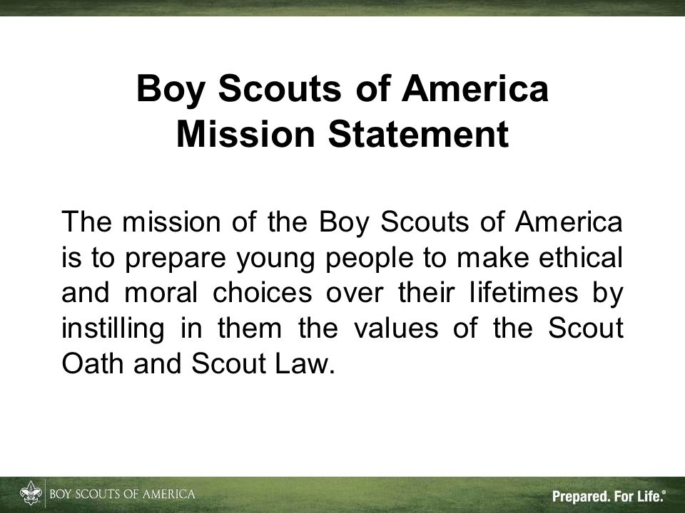 Boy Scouts of America Mission Statement
