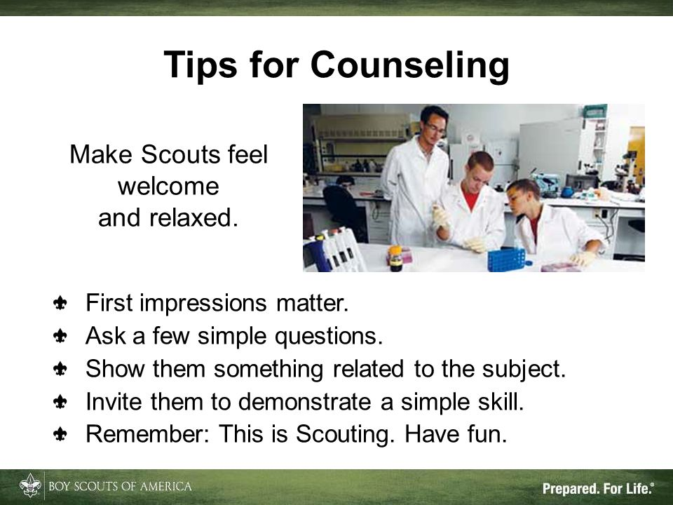Make Scouts feel welcome