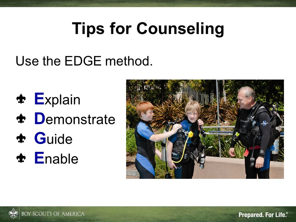 Tips for Counseling Explain Demonstrate Guide Enable