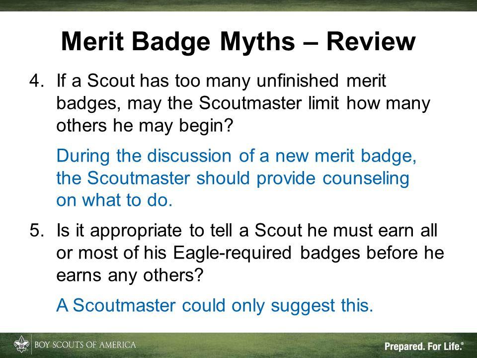 Merit Badge Myths – Review