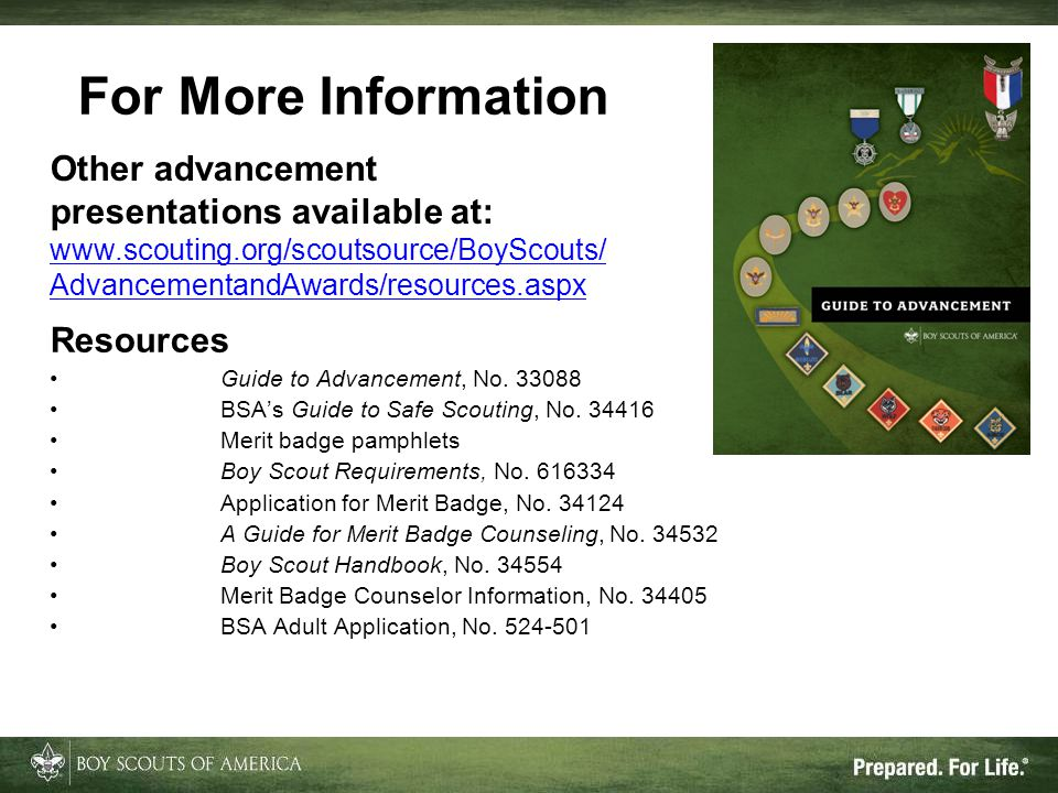 For More Information Other advancement presentations available at:
