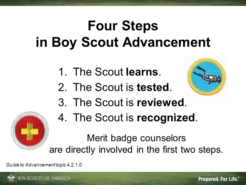 in Boy Scout Advancement